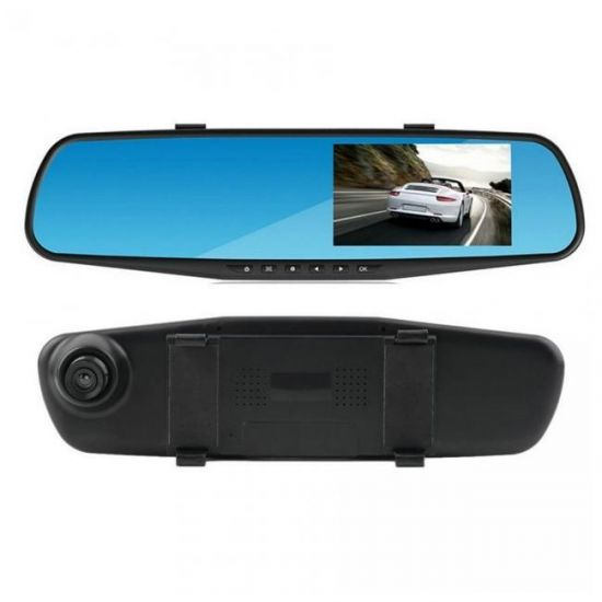 """Автомобильный видеорегистратор Vihicle blackbox DVR 138E 4.3"""" зеркало заднего вида с видеорегистратором"""