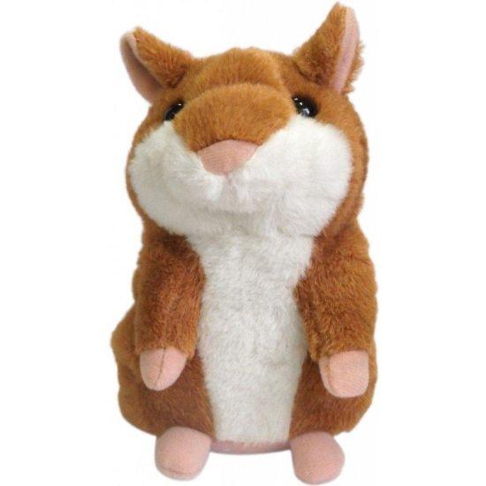Интерактивная игрушка говорящий хомяк Woody O'Time WT0502 Dark Brown, повторяет слова темно коричневый