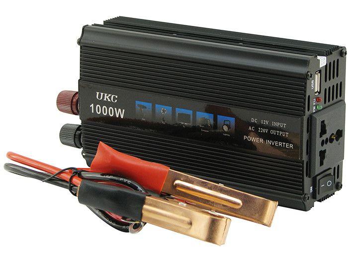 Автомобильный инвертор UKC SSK 1000W преобразователь напряжения, 12В 220В 1000Вт
