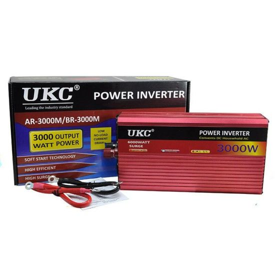 Автомобильный преобразователь напряжения UKC BR-3000M 24V-220V 3000W авто инвертор с функцией плавного пуска