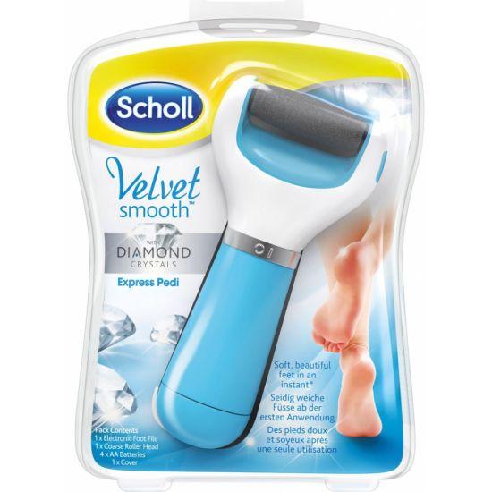 Электрическая роликовая пилка для ног и стоп Scholl, Электрическая пемза для педикюра с роликом