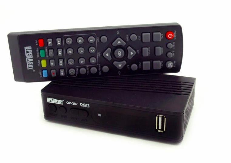 Цифровой эфирный Тюнер T2 Operasky OP-307 ресивер Т2 с экраном