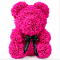 Маленький мишка из искусственных 3D роз Teddy Bear de Luxe 25 см Pink, розовый медведь Тедди