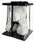 Маленький мишка из искусственных 3D роз Teddy Bear de Luxe 25 см White, белый медведь Тедди