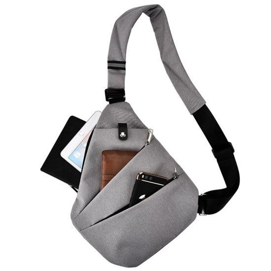 Мужская сумка мессенджер Cross Body Grey (Кросс боди) серая