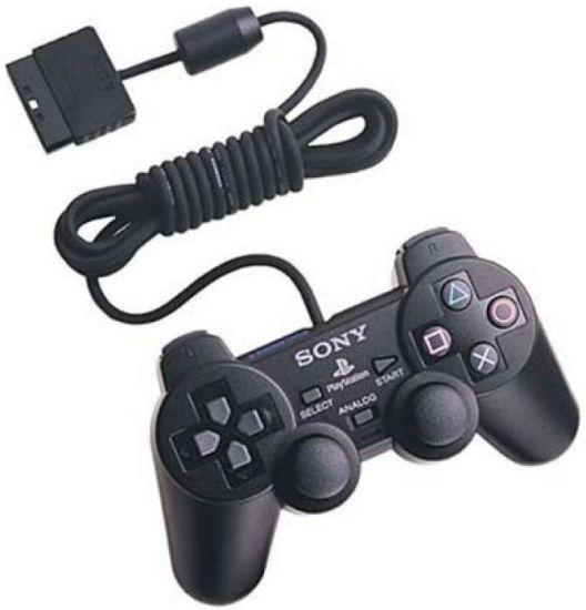 Проводной джойстик PS2 GamePad DualShock Sony PlayStation 2 геймпад для Play Station 2 (Сони) Черный Black