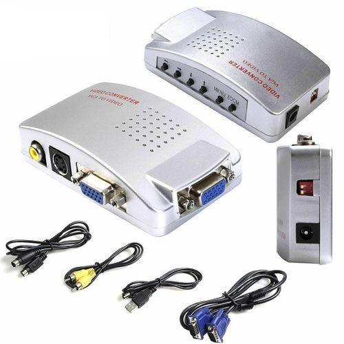 Универсальный конвертер VGA-RCA AV + S-Video TV converter с VGA на RCA тюльпаны для подключение от ПК к ТВ.