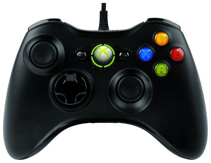 Проводной джойстик Microsoft Xbox 360 Black Оригинал Черный