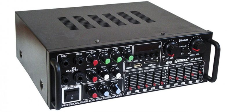 Интегральный усилитель мощности звука UKC AV-326BT 240W с Bluetooth и караоке