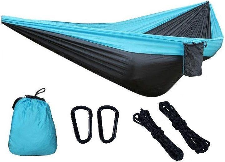 Гамак из нейлона туристический одноместный Travel hammock 270х140 см Летний с карманом