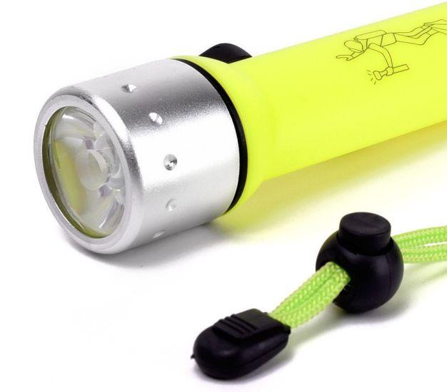 Ручной фонарь подводный для подводного плавания, фонарик для дайвинга и охоты PF 02