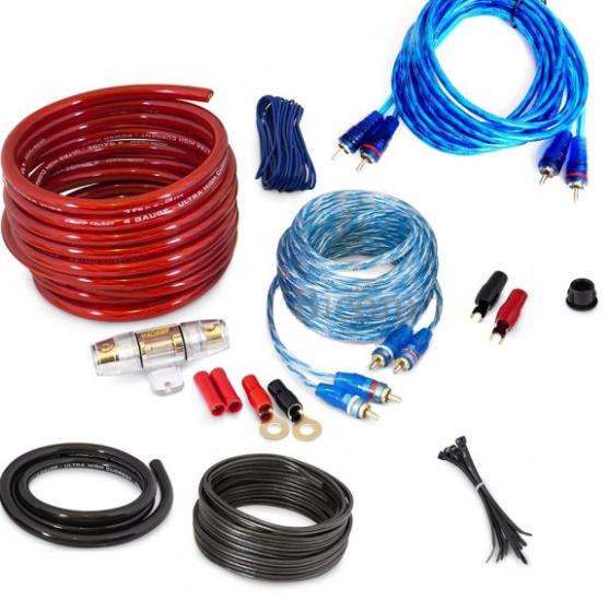 Комплект проводов для автомобильного усилителя MDK MD-86 8GA 5 м набор кабелей для автоакустики