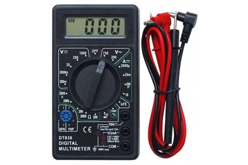 Мультиметр тестер вольтметр амперметр Digital DT-838, вольтметр DT838, DT 838
