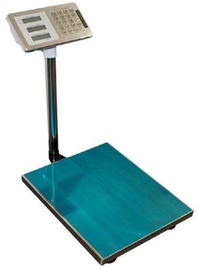 Электронные торговые весы Domotec до 350 кг 40х50, товарные платформа, базарные до 300кг со стойкой