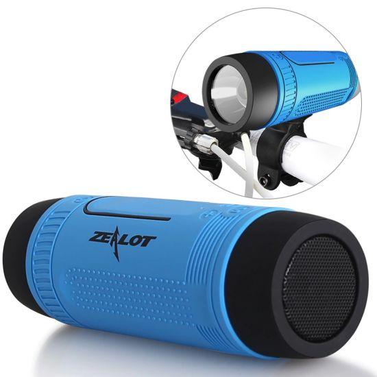 Велосипедная водонепроницаемая bluetooth колонка с фонариком Zealot S1 креплением на руль с power bank