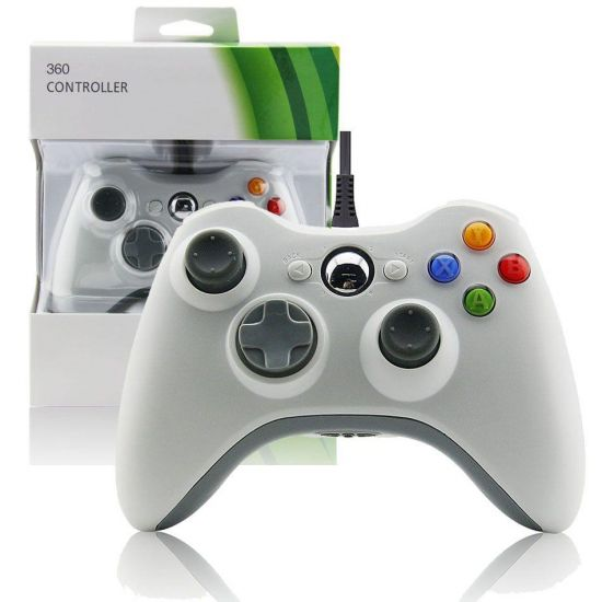 Проводной джойстик Microsoft Xbox 360 White Оригинал Белый