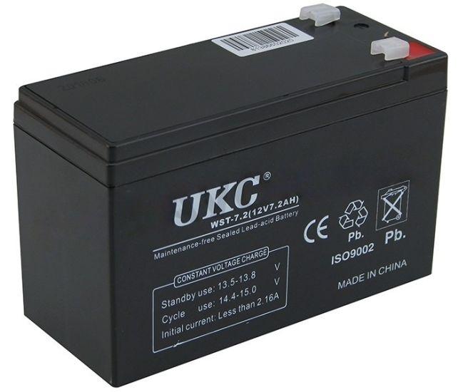 Универсальный аккумулятор UKC 12V 7.2Ah WST12-7.2 (Акумуляторна батарея 12В 7.2Ач)