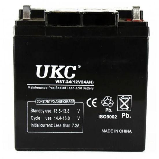 Универсальный аккумулятор UKC 12V 24Ah WST-24 (Аккумуляторная батарея 12В 24Ач)