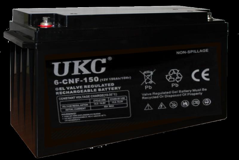 Универсальный гелевый аккумулятор GEL UKC 6-CNF-150 12V 150Ah (Аккумуляторная батарея 12В 150Ач)