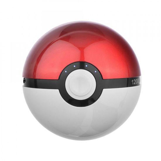 Портативное зарядное устройство Power Bank 12000 mAh в виде Pokeball, в форме Покебол из Мультфильма Pokemon