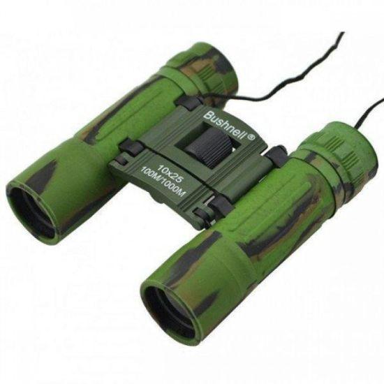 Компактный бинокль TASCO ST1025 green 10x25 зеленый для охоты и рыбалки
