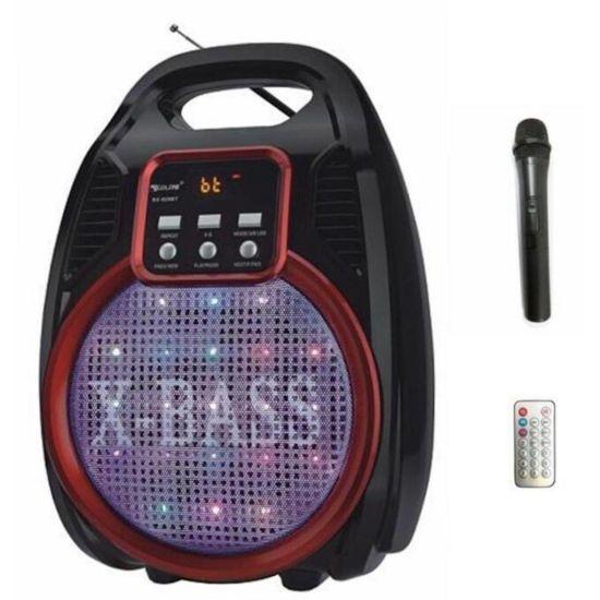 Беспроводная Bluetooth колонка X-BASS Golon RX-820BT со цветомузыкой и микрофоном