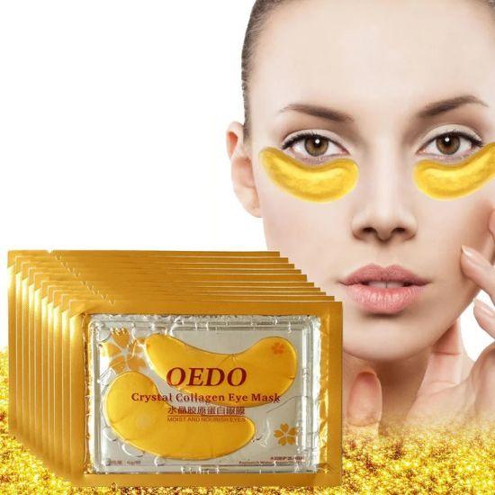 Золотые коллагеновые патчи для глаз Efero Crystal Golden Gold Eye Mask с биоактивным золотом 10шт
