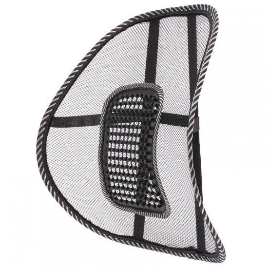 Ортопедическая спинка-подушка Plymex Seat Backc массажером Упор поясничный для спины на кресло, стул, в авто