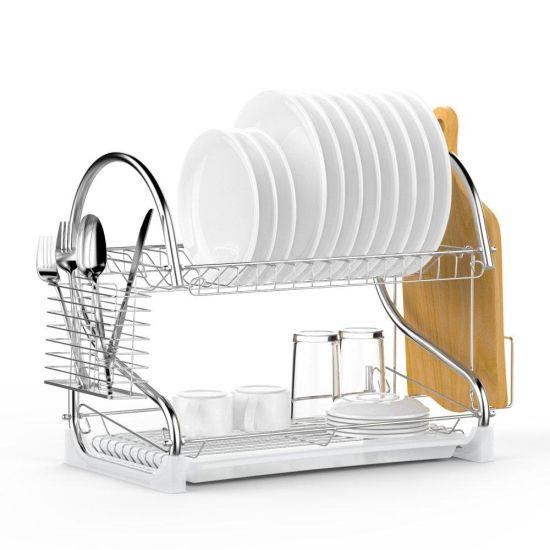 Сушилка для посуды из нержавеющей стали Kitchen Storage Rack 8051 стойка, полка, органайзер для хранения