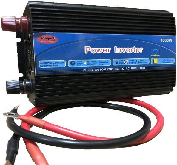 Автомобильный преобразователь напряженияWimpex 12V-220V 4000Wинвертор c Ledдисплеем