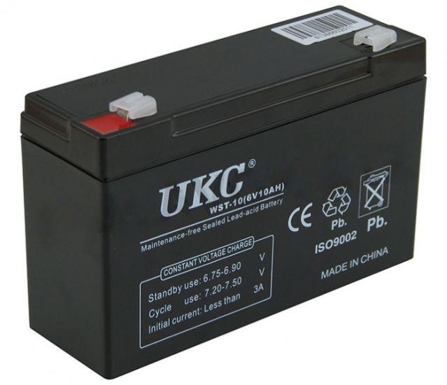 Универсальный аккумулятор UKC 6V 10Ah WST-10 (Аккумуляторная батарея 6В 10Ач)