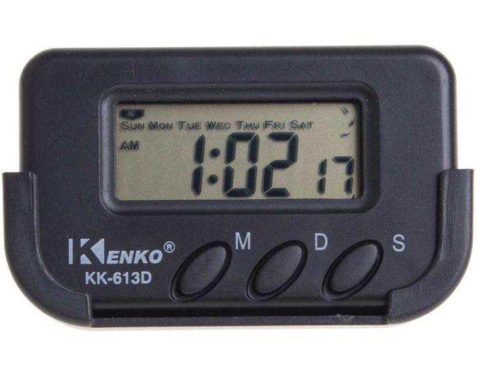 Электронные автомобильные часы Kenko KK-613D с будильником и секундомером