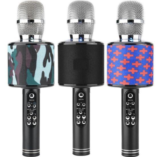 Беспроводной микрофон караоке bluetooth JBL Charge KTV V8 K-319 с чехлом