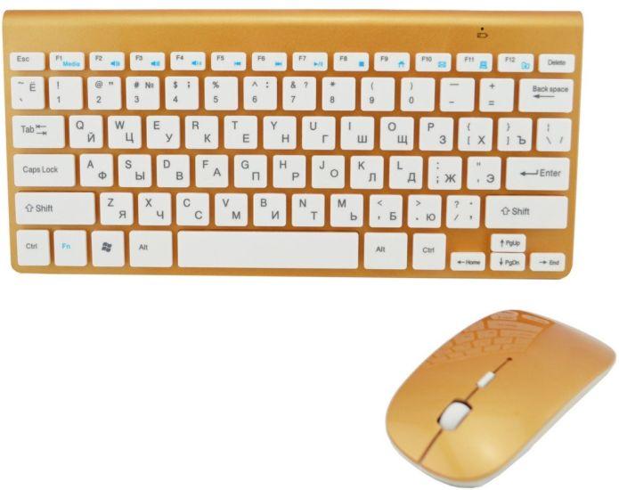 Комплект беспроводная клавиатура с мышкой 908 Apple 902