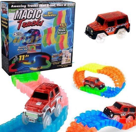 Детская Гибкий Трек Magic Tracks, Гибкий гоночный трек Меджик Трек 165 деталей