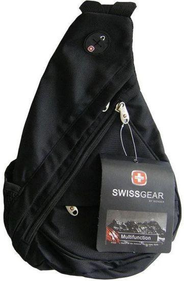 Городской рюкзак через плечо SwissGear Sling 0078 Black