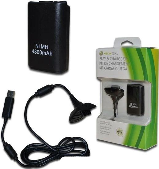 Зарядное устройство Microsoft Play Charge Kit Xbox 360, Комплект зарядный для джойстиков аккумулятор + адаптер