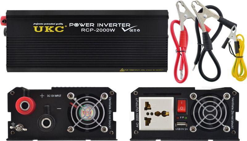 Профессиональный преобразователь инвертор UKC 12V-220V RCP-2000W