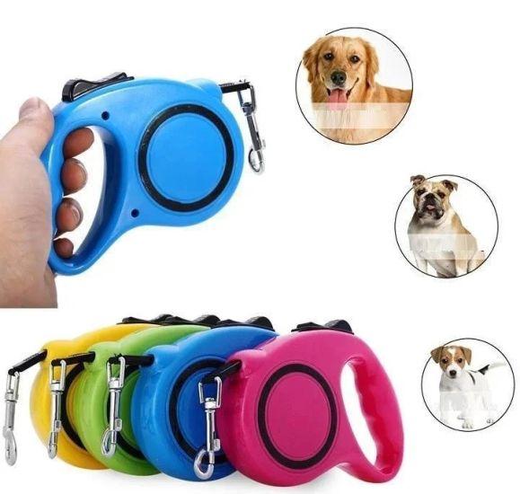 Поводок рулетка для собак с кнопочным блокиратором длины Retractable Dog Leash 5 м до 33 кг Средний