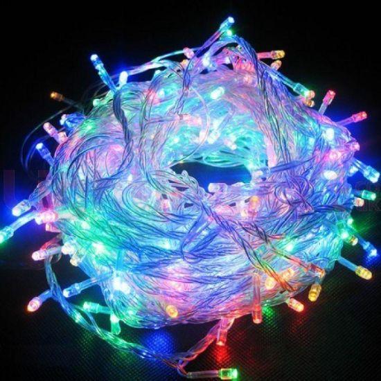 Внутренняя цветная гирлянда 7 м 100 диодов 0146 светодиодная гирлянда Xmas LED 100 M-1 RGB Мультицветная 7м