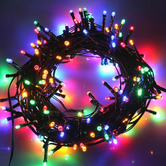 Внутренняя цветная гирлянда 35 м 500 диодов 3856 светодиодная гирлянда Xmas LED 500 M-4 RGB Мультицветная 35м