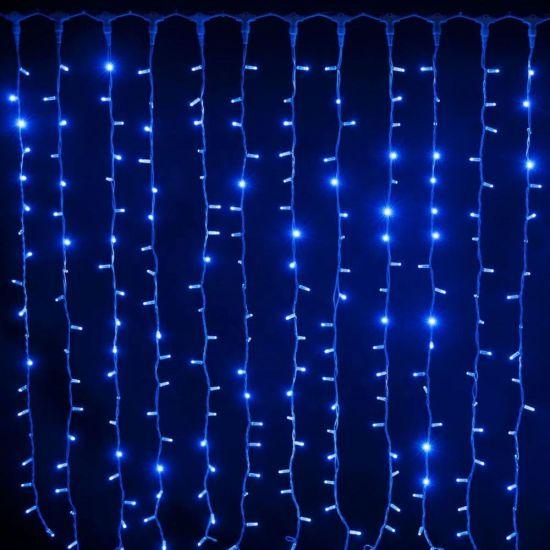 Внутренняя гирлянда Водопад (Штора) Синяя 3x3 м 480 диодов 3904 светодиодная гирлянда Xmas 480 LED B-3 3мx3м