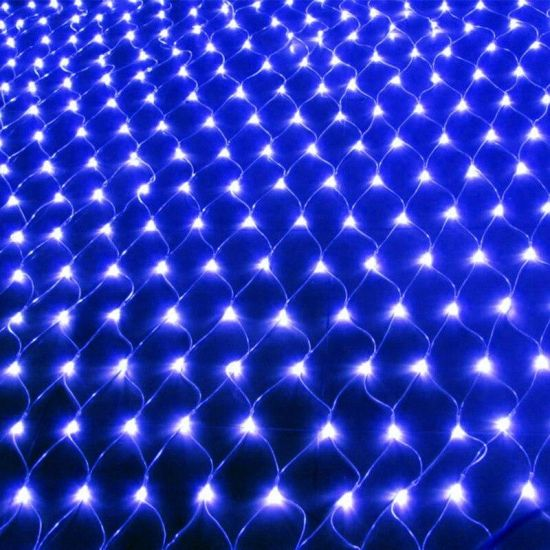 Внутренняя гирлянда СеткаСиняя 1.8x1.8 м 180 диодов 0159 светодиодная гирлянда Xmas 180 LED B-3 1.8мx1.8м