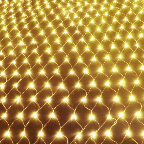 Внутренняя гирлянда СеткаТеплый Белый 1.5x1.5 м 120 диодов 7231 светодиодная гирлянда Xmas 120P LED 1.5мx1.5м