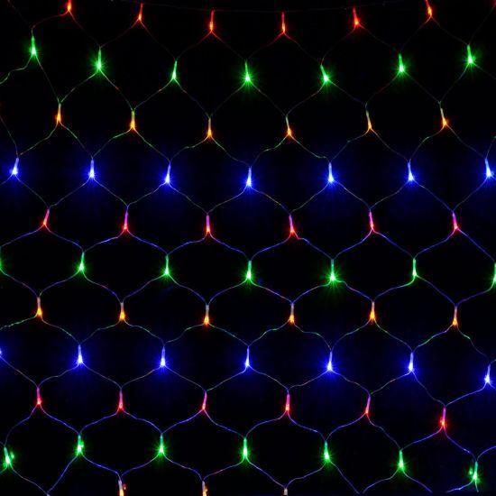 Внутренняя цветная гирлянда Сетка 1.5x1.5 м 120 диодов 8812 светодиодная гирлянда Xmas 120P LED M-3 1.5мx1.5м