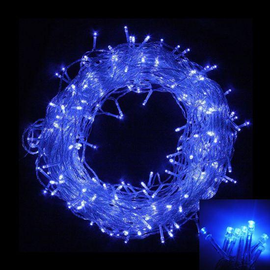 Внутренняя гирлянда Нить Синяя 14 м 200 диодов 0142 светодиодная гирлянда Xmas LED 200 B-1 14м