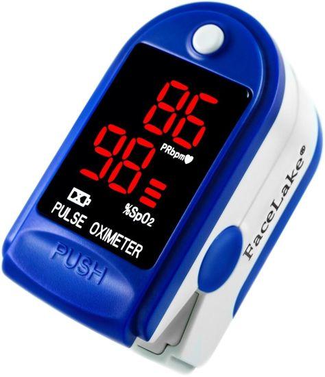 Беспроводной пульсоксиметр, пульсометр на палец Pulse Oximeter FingerTec SP02 с LCD дисплеем