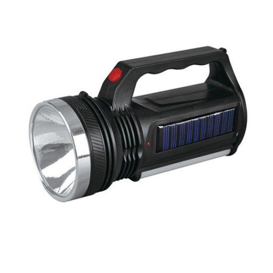 Фонарь светодиодный с солнечными батареями YJ-2836T аккумуляторный фонарик