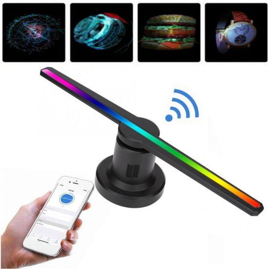 Голографический 3D проектор Wi-Fi вентилятор Digital FH-422 Fan Hologram 42см US F3 SD / ISO