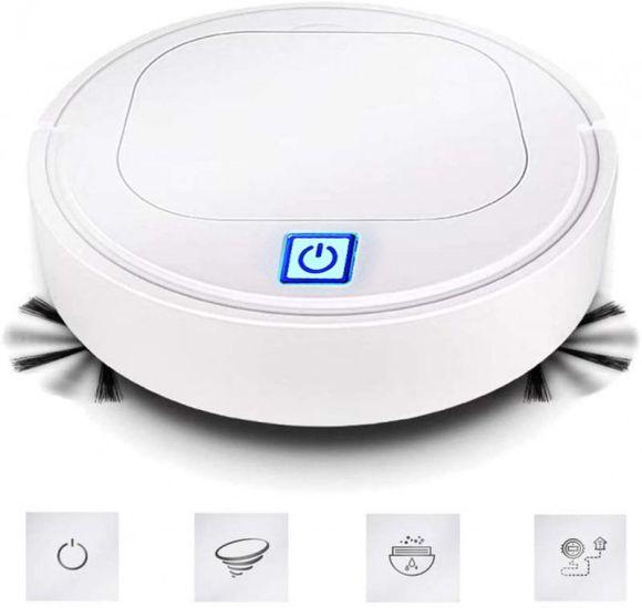 Робот пылесос Clean ES23 White, автоматический умный пылесос на аккумуляторе белый